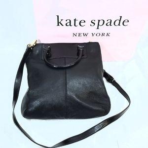 Kate Spade Black Leather Alexa Boreum Handbag